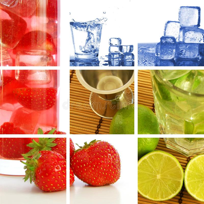 Drink Collage Royalty Free Stock Image
