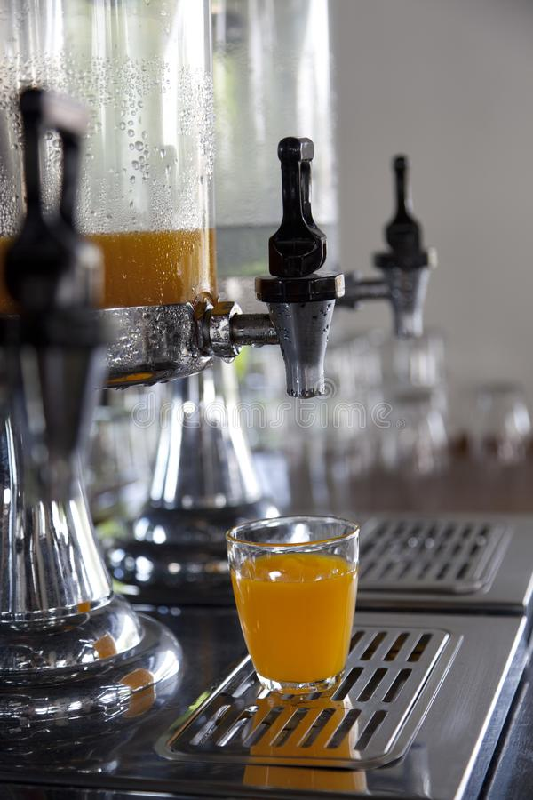 Drink corner in buffet line royalty free stock photography