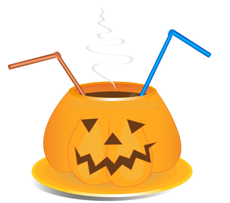 Drink cup in old jack-o-lantern style