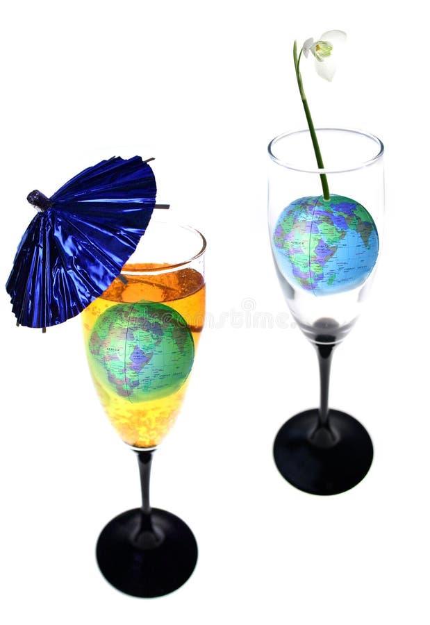 Drink de wereld stock foto's