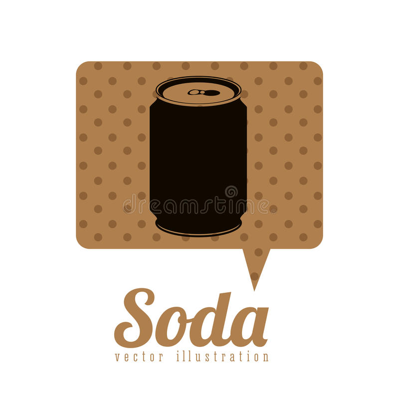 Drink design. Over white background, vector illustration royalty free illustration