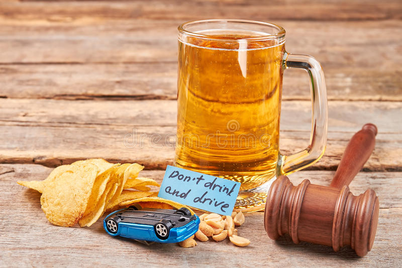 Drink driving penalties. Do not drink and drive concept royalty free stock photos