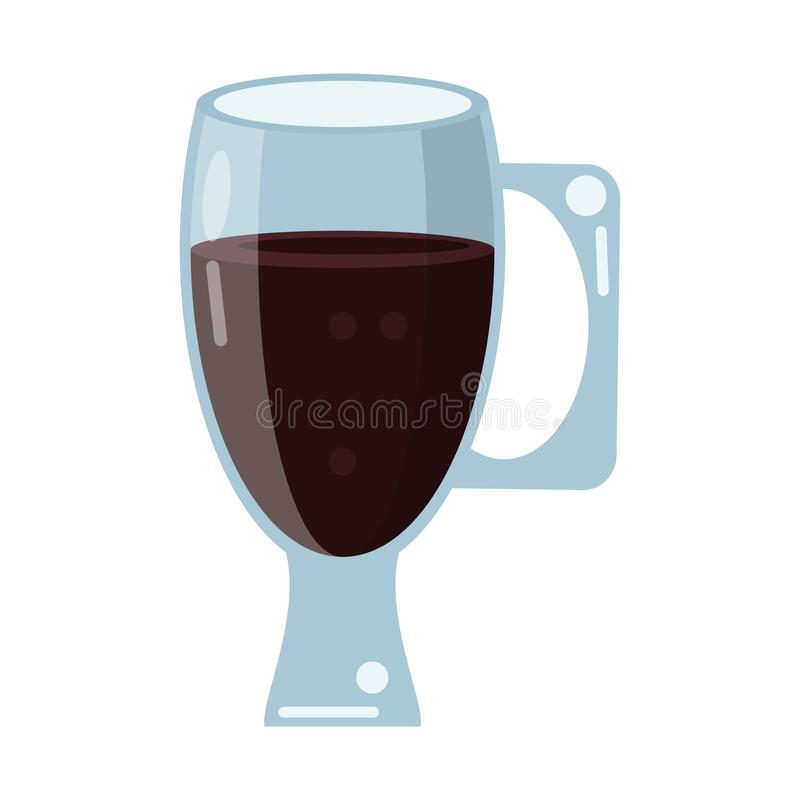Drink för kaffeexponeringsglaskopp royaltyfri illustrationer