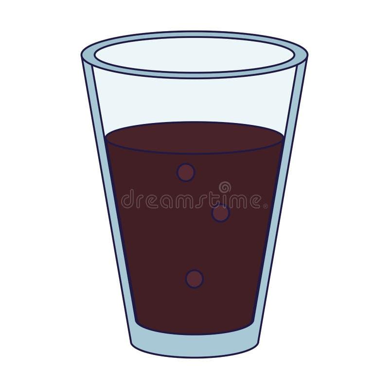 Drink för kaffeexponeringsglaskopp stock illustrationer