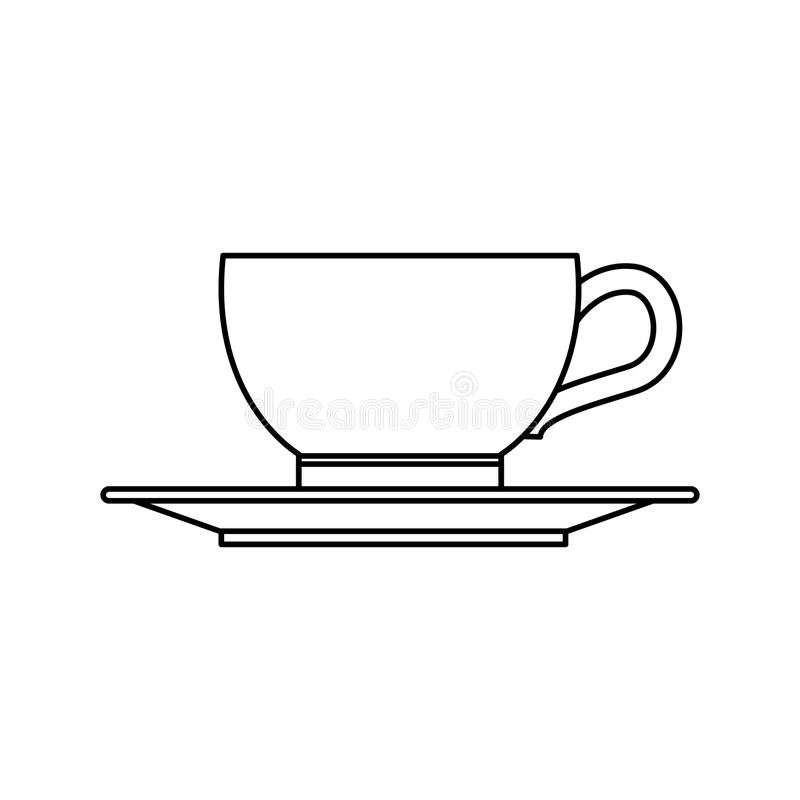Drink för kaffekopp vektor illustrationer