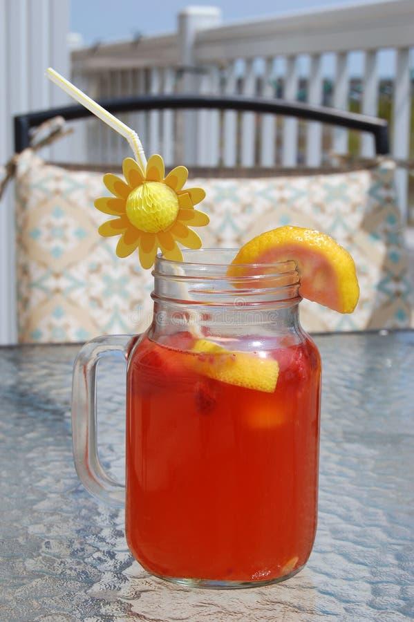 Drink för sommar för fruktstansmaskin royaltyfri bild