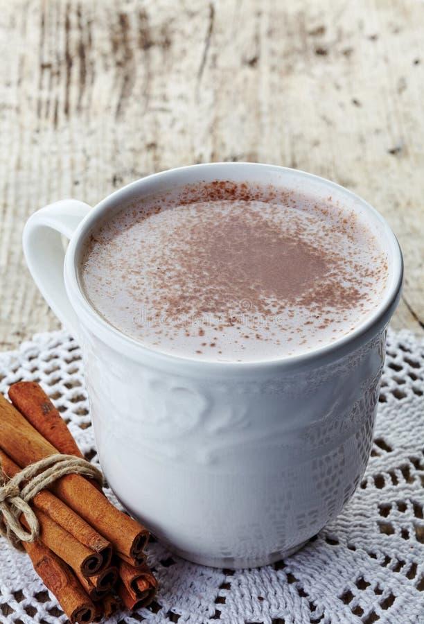 Drink för varm choklad arkivfoto