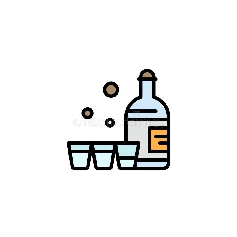 Drink flaska, exponeringsglas, Irland affär Logo Template plan f?rg vektor illustrationer