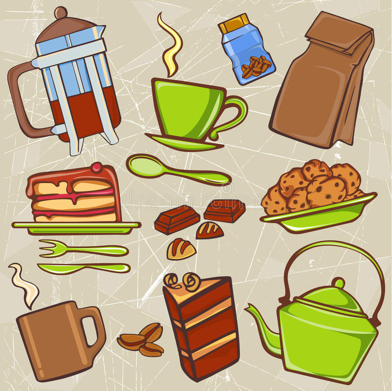 Download Drink and food icons stock vector. Image of delicious - 16501415