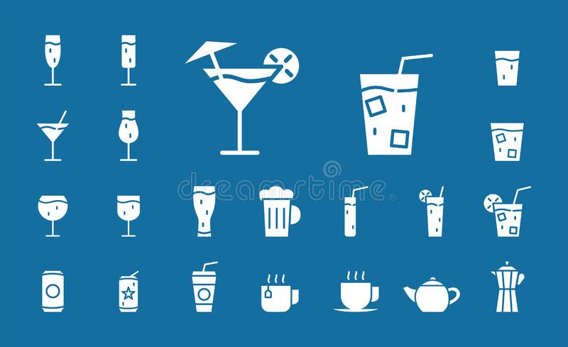 Drink Glass Icons 03 royalty free illustration