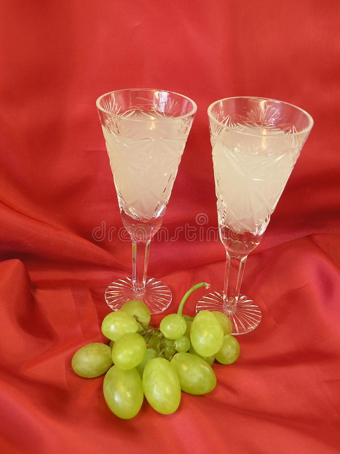 Drink And Grape Stock Image