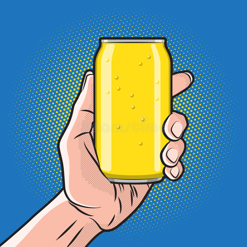 Drink i hand vektor illustrationer