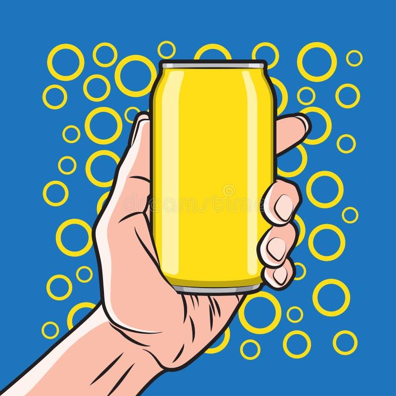 Drink i hand stock illustrationer