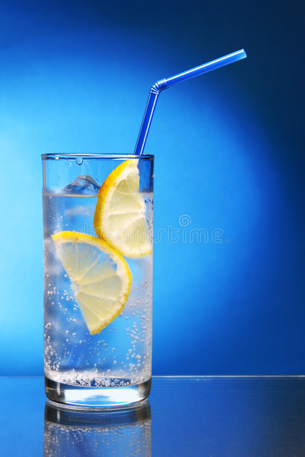 Download Drink with ice and lemon stock image. Image of liquid - 6434197