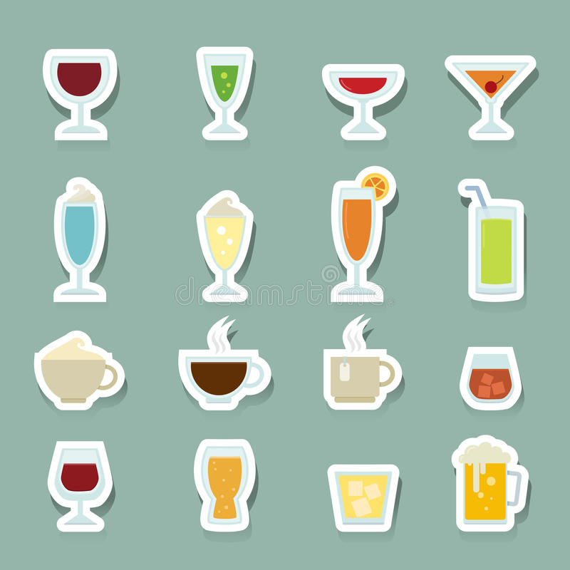 Free Drink Icons Set Royalty Free Stock Images - 44803229