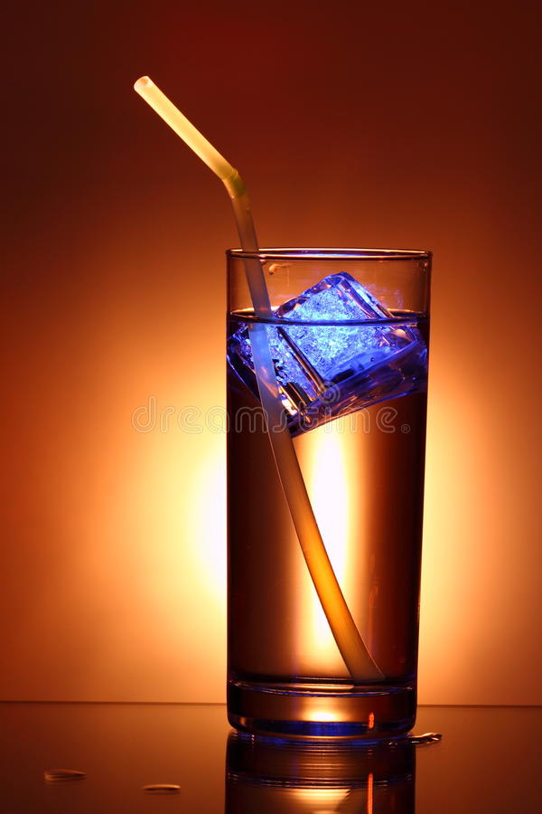 Drink with illuminated ice stock photography