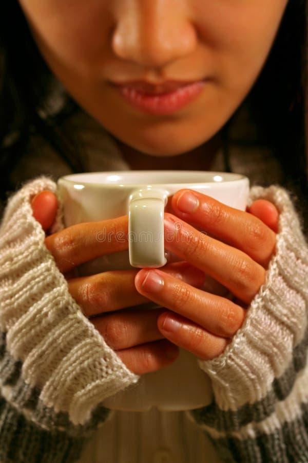 Drink koffie stock foto