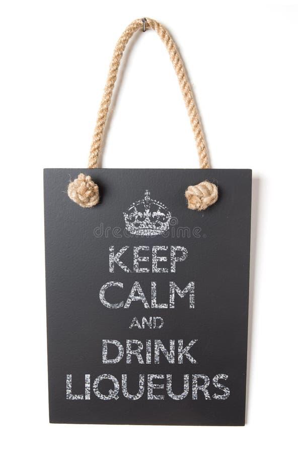Drink likeuren royalty-vrije stock foto