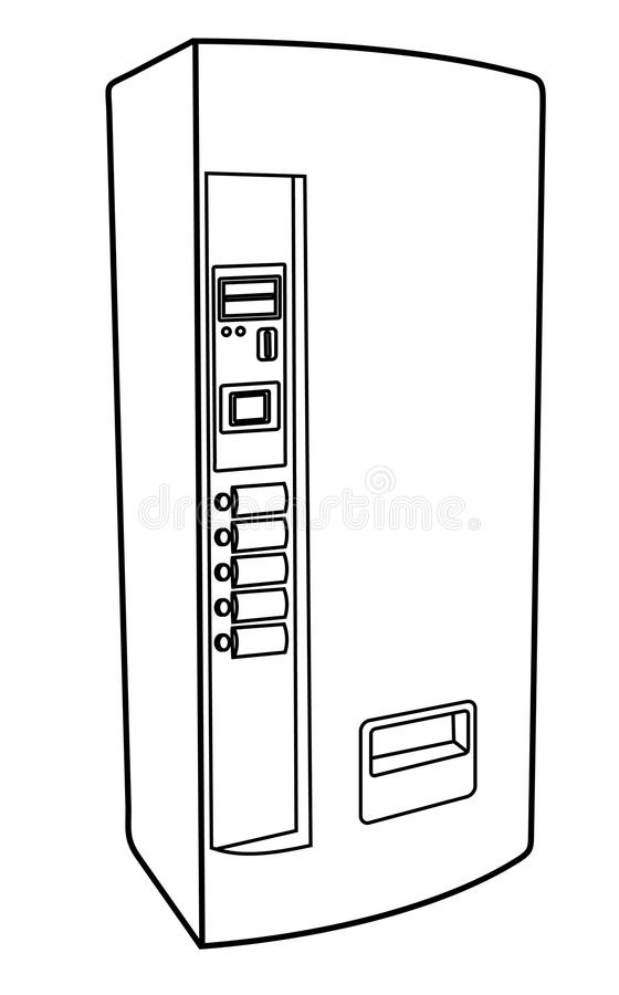 Download Drink machine stock vector. Image of linear, drawing - 25072038