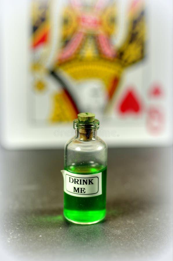 Drink me royalty-vrije stock foto
