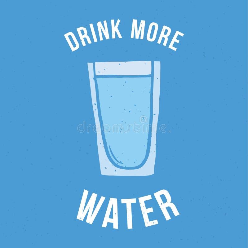 Drink meer water stock afbeelding