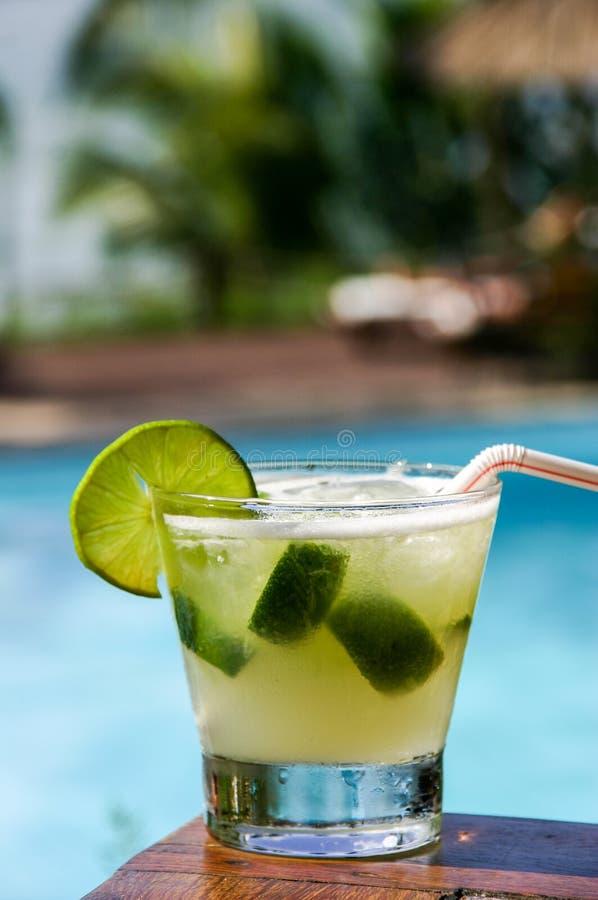 Drink a mojito stock photo