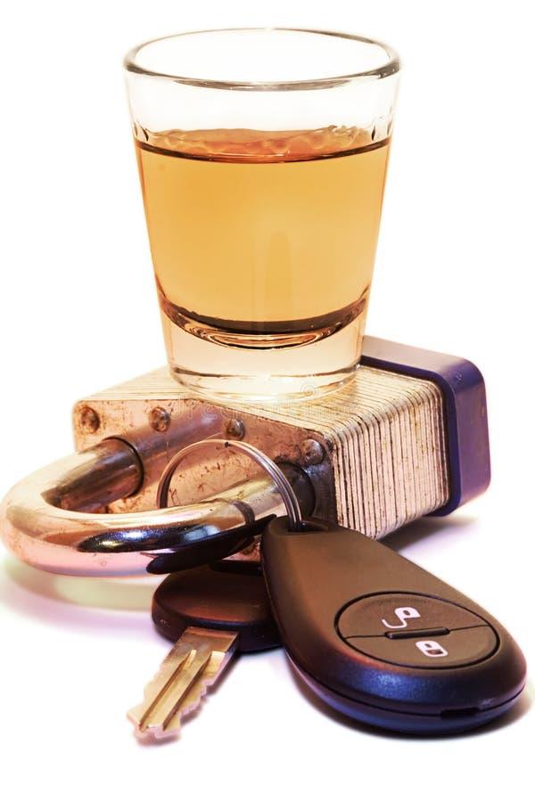 Drink niet & drijf royalty-vrije stock afbeelding