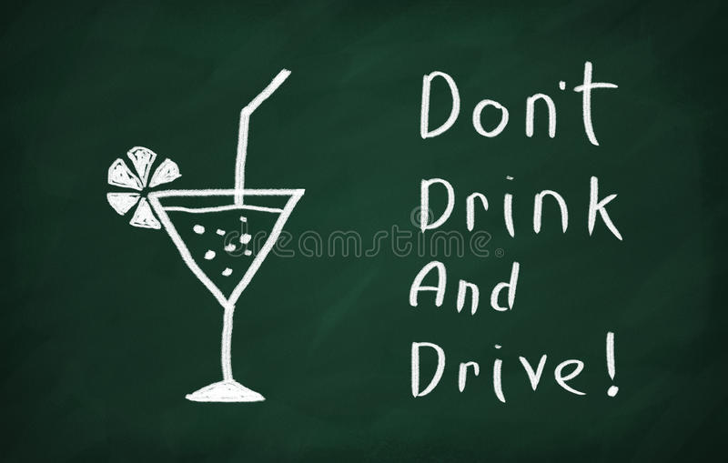 Drink niet en drijf! stock foto's