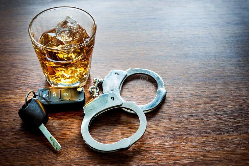 Drink niet en drijf royalty-vrije stock afbeelding