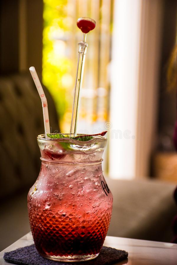 Drink refresh ice stock photography