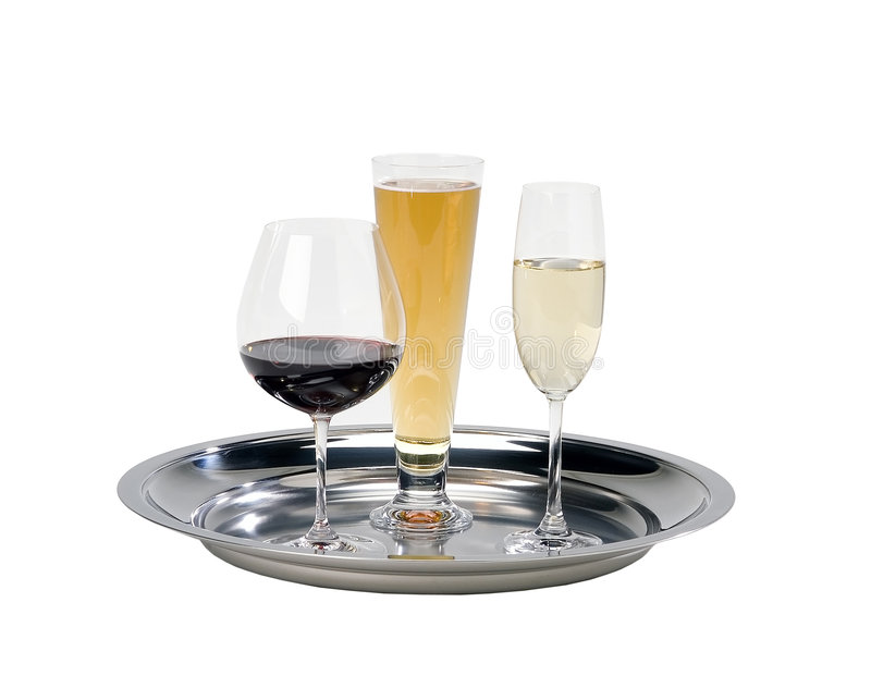Download Drink serving tray stock image. Image of champagne, wine - 3195683