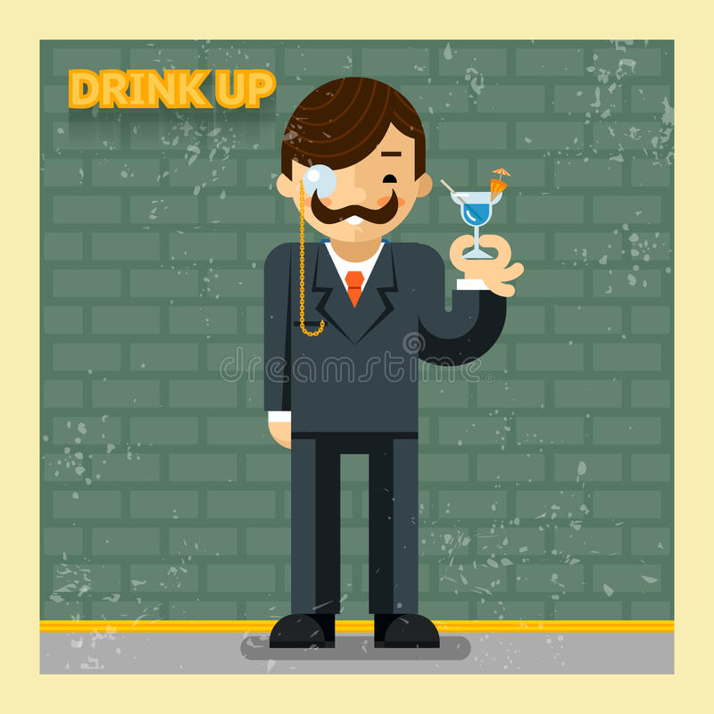 Drink up concept stock illustration