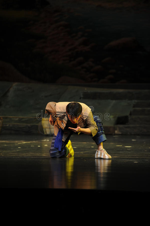 Drink the water from the stream- Jiangxi opera a steelyard. Jiangxi opera a steelyard is adapted from a true story: the last century fortys, the protagonists royalty free stock photography