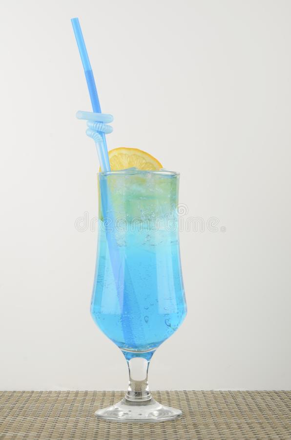 Alcoholic drinks with pieces of fruit royalty free stock photography