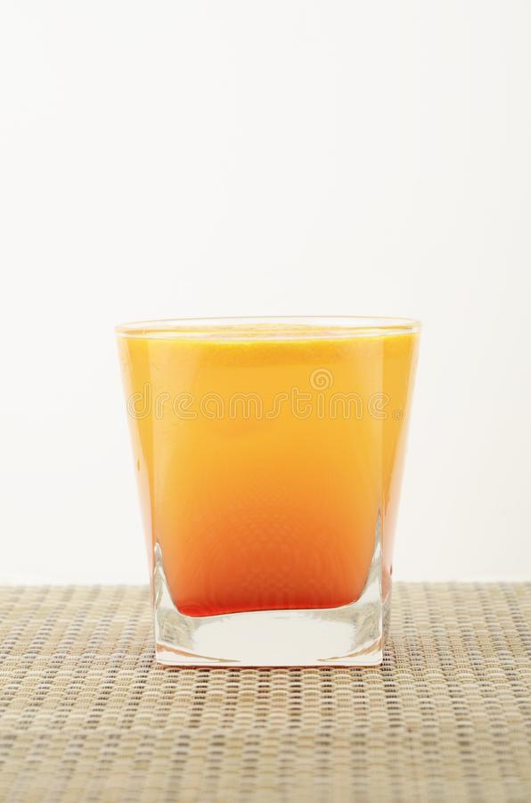 Alcoholic drinks with pieces of fruit royalty free stock photos