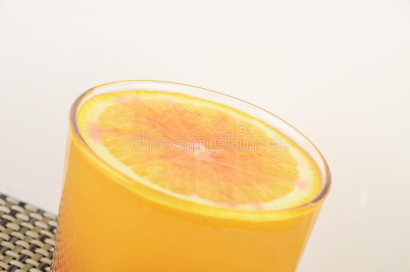 Alcoholic drinks with pieces of fruit stock photos
