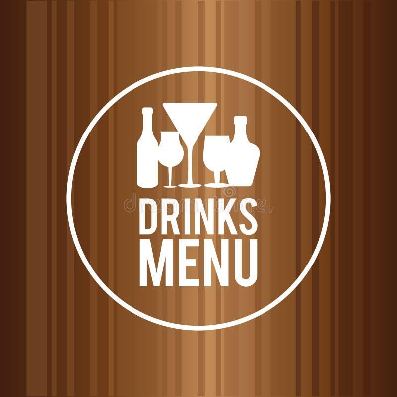 Drinkdesign Menysymbol plan illustration, vektordiagram royaltyfri illustrationer