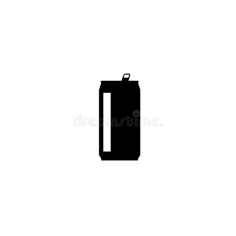 Drinken kan vektorsymbolen som isoleras på vit bakgrund, den plana konturdesignen, formclipart stock illustrationer
