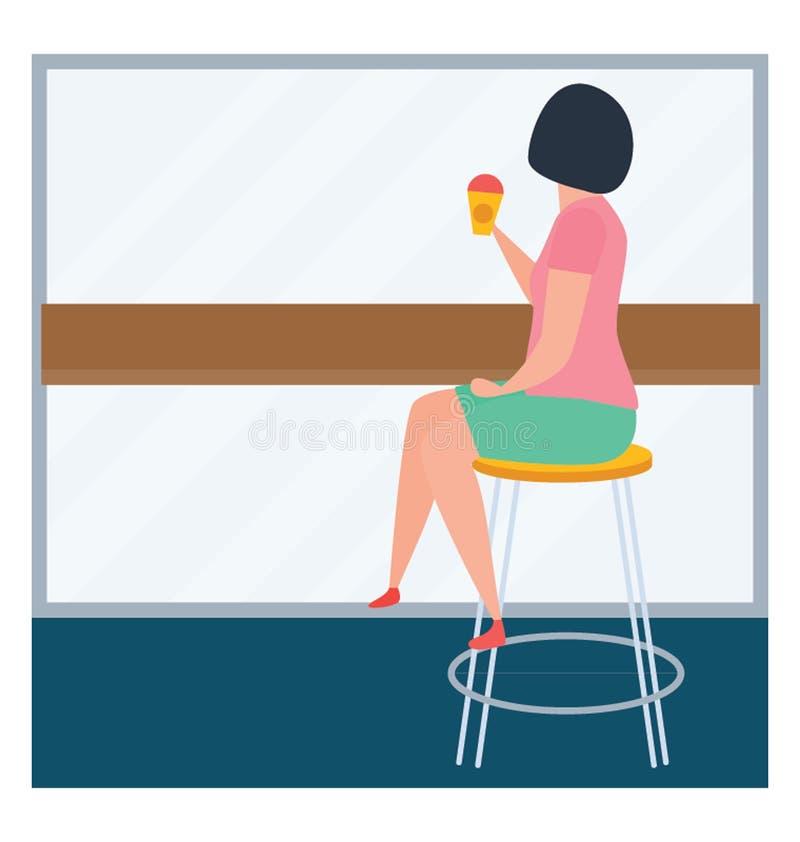 Drinkende koffie vector illustratie