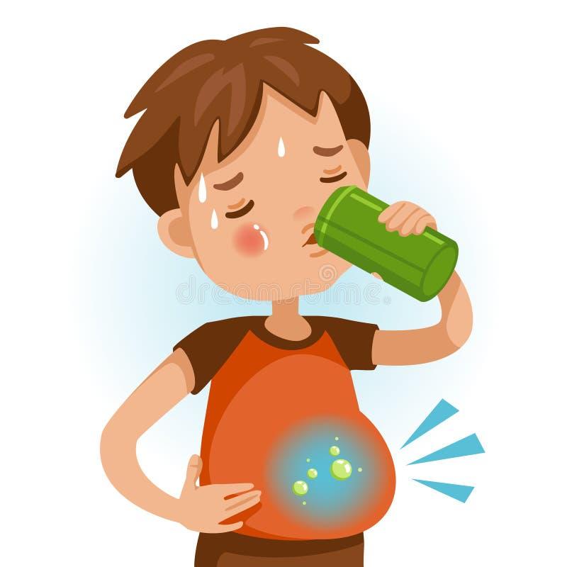 Drinkende soda vector illustratie