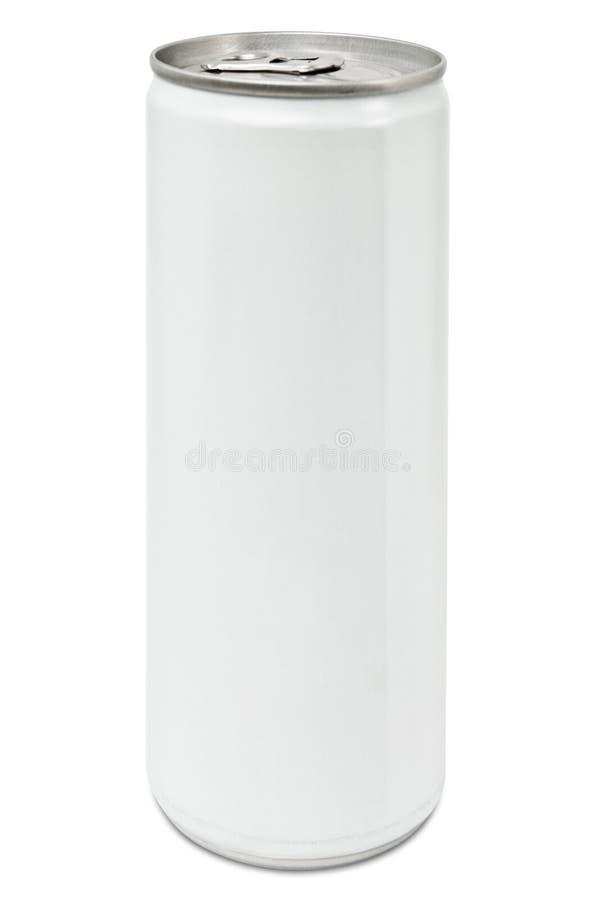 Drinkende tinspatie en wit stock afbeeldingen