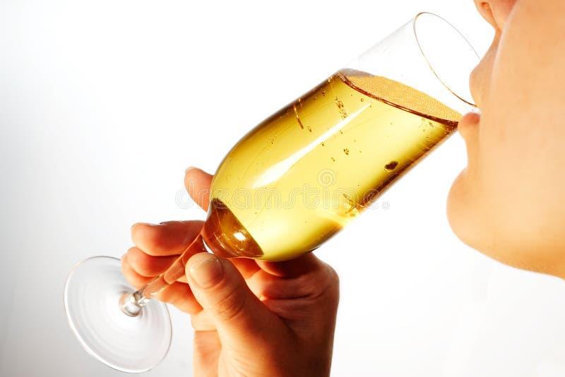 Drinkende vrouw 6 royalty-vrije stock foto's