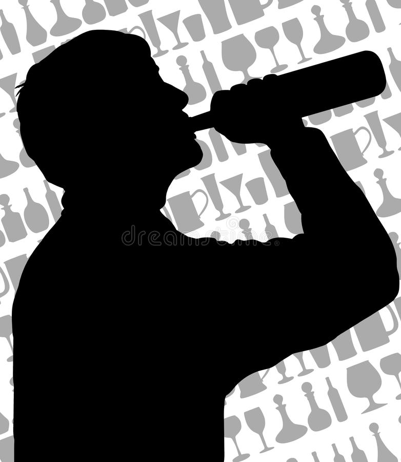 Download Drinker stock illustration. Illustration of wineglass - 19636552