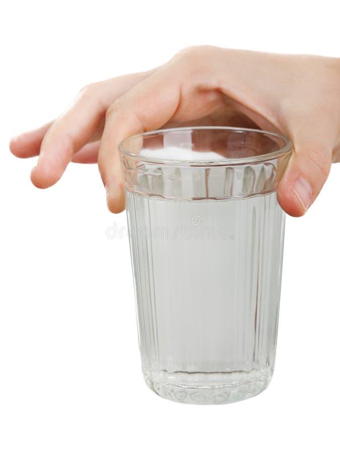 drinkexponeringsglasvatten fotografering för bildbyråer