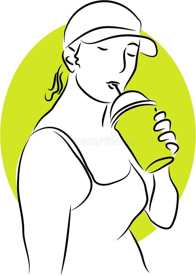 Drinking vector illustration