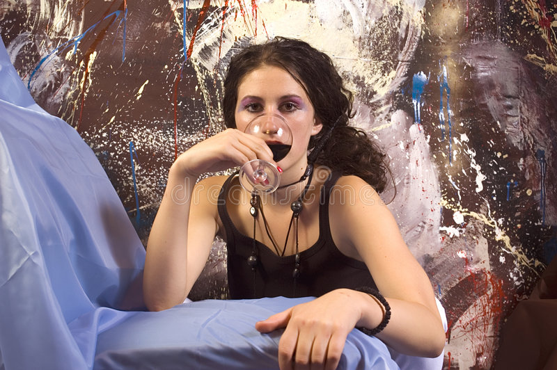 Download Drinking stock photo. Image of women, girl, happy, drink - 1422586