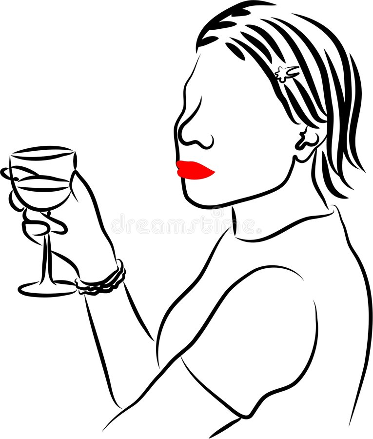Drinking royalty free illustration