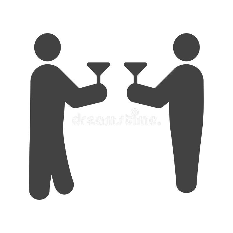 drinking ilustración del vector