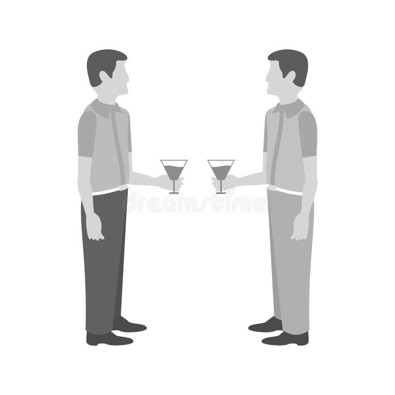 drinking libre illustration