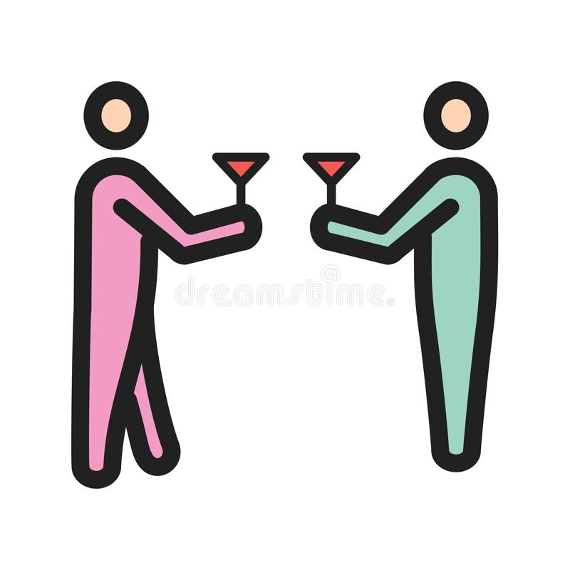 drinking stock de ilustración
